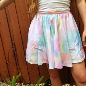 NASTY GAL Pastel Skirt Small